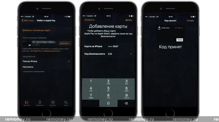 Apple Pay на iWatch